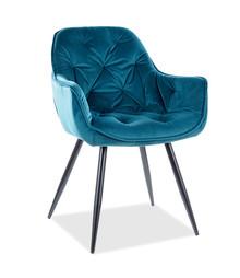 Krzesło CHERRY Velvet - turkusowy Bluvel 85