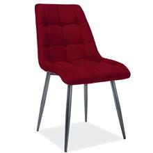 Krzesło CHIC Matt Velvet - bordo