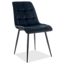 Krzesło CHIC Matt Velvet - czarny