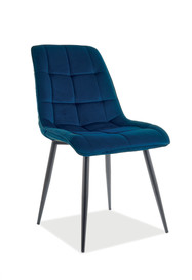 Krzesło CHIC Matt Velvet - granatowy