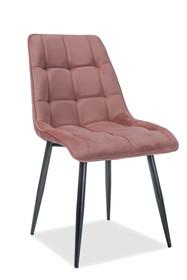 Krzesło CHIC Matt Velvet - antyczny róż