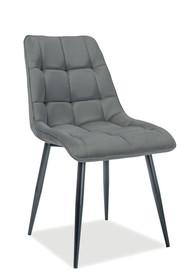 Krzesło CHIC Matt Velvet - szary