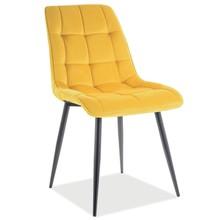 Krzesło CHIC Matt Velvet - żółty