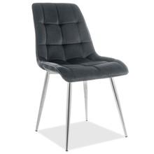 Krzesło CHIC CHROM Velvet - czarny Bluvel 19