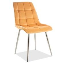 Krzesło CHIC CHROM Velvet - curry Bluvel 68