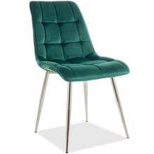 Krzesło CHIC CHROM Velvet - zielony Bluvel 78
