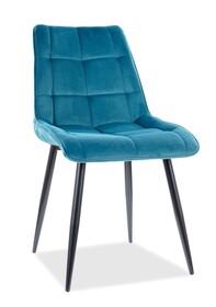 Krzesło CHIC Velvet - turkusowy Bluvel 85