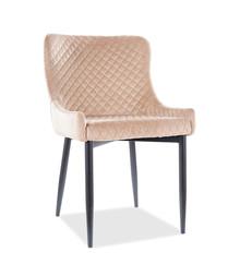 Krzesło COLIN B Velvet - beżowy Bluvel 28