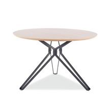 Stół okrągły COLT 120 cm - dąb/czarny