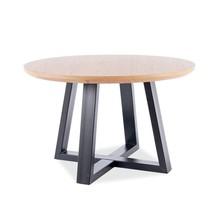 Stół okrągły CONO II 120 cm - dąb/czarny