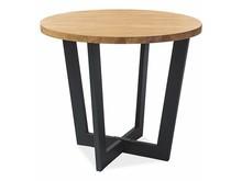 Stół okrągły CONO LAMINAT 90cm - dąb/czarny