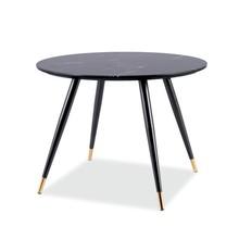 Stół okrągły CYRYL II 100cm - czarny efekt kamienia