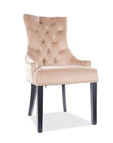 Krzesło EDWARD Velvet - beż Bluvel 28