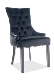 Krzesło EDWARD Velvet - czarny Bluvel 19