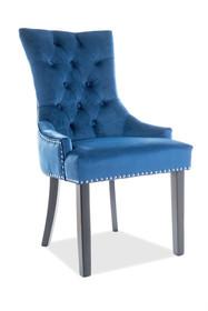 Krzesło EDWARD Velvet - granatowy Bluvel 86