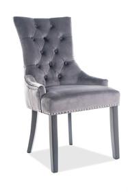 Krzesło EDWARD Velvet - szary Bluvel 14