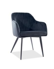 Krzesło ELINA Velvet - czarny