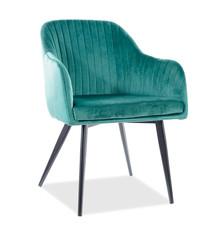 Krzesło ELINA Velvet - zielony