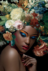 Obraz na szkle FLOWER WOMAN I 80x120