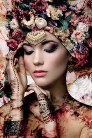 Obraz na szkle FLOWER WOMAN II 80x120