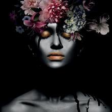 Obraz na szkle FLOWER WOMAN III 80x80