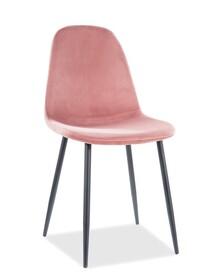 Krzesło FOX Velvet - róż antyczny