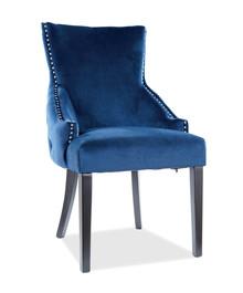 Krzesło GEORGE Velvet - granatowy Bluvel 86