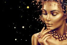 Obraz na szkle GOLDEN FACE 120x80