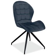 Krzesło HALS II Velvet - szary Bluvel 14