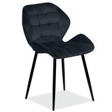 Krzesło HALS Velvet - czarny Bluvel 19
