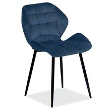 Krzesło HALS Velvet - granatowy Bluvel 86