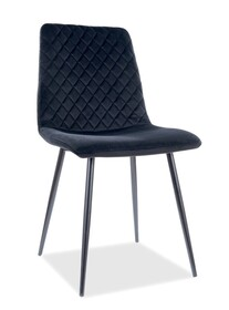 Krzesło IRYS Velvet - czarny Bluvel 19