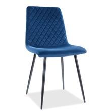 Krzesło IRYS Velvet - granatowy Bluvel 86