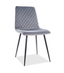 Krzesło IRYS Velvet - szary Bluvel 14