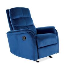 Fotel rozkładany JOWISZ Velvet - granatowy Bluvel 86