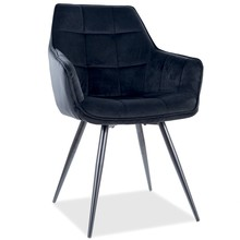 Krzesło LILIA Velvet - czarny Bluvel 19