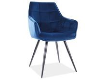 Krzesło LILIA Velvet - granatowy Bluvel 86