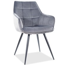 Krzesło LILIA Velvet - szary Bluvel 14