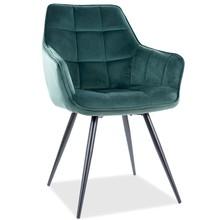 Krzesło LILIA Velvet - zielony Bluvel 78