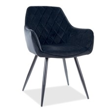 Krzesło LINEA Velvet - czarny Bluvel 19