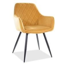 Krzesło LINEA Velvet - curry Bluvel 68