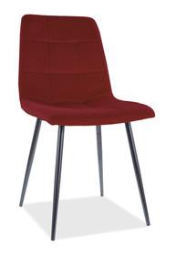Krzesło MILA Matt Velvet - bordo