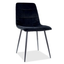 Krzesło MILA Matt Velvet - czarny