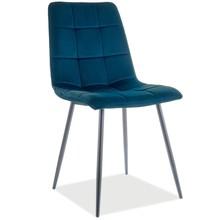 Krzesło MILA Matt Velvet - granatowy
