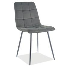 Krzesło MILA Matt Velvet - szary