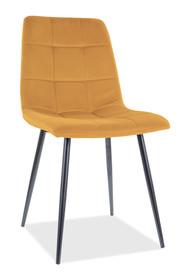 Krzesło MILA Matt Velvet - żółty