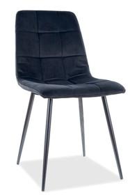 Krzesło MILA Velvet - czarny Bluvel 19