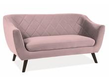 Sofa MOLLY 2 VELVET - róż antyczny Bluvel 52