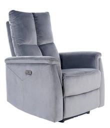 Fotel rozkładany NEPTUN Velvet - szary Bluvel 14