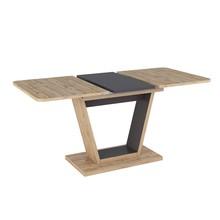 Stół rozkładany NIGEL 120/160x80 - dąb wotan/brąz